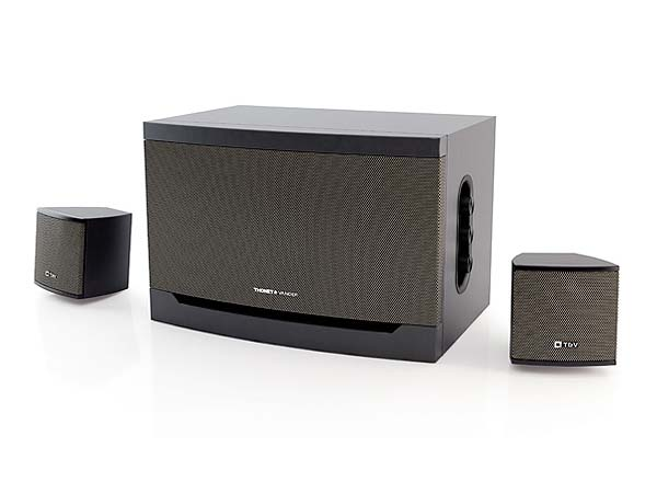 PARLANTES 2.1 T&V RISS NEGRO 32W RMS
