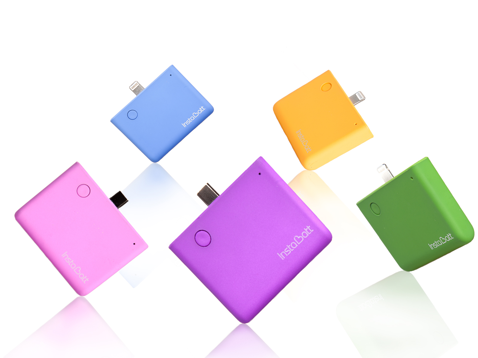 POWER BANK ANDROID INSTABATT 1200MHA VARIOS COLORES