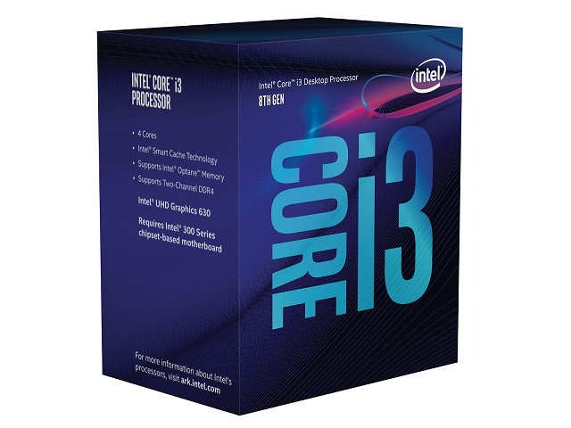 PRO INTEL CORE 8th GEN I3-8100 3.60GHz 6MB FCLGA1151
