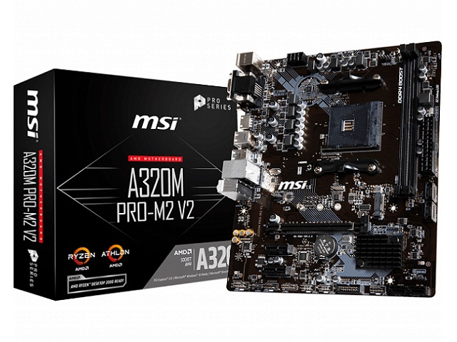 MOTHERBOARD MSI AM4 A320M PRO-M2 V2