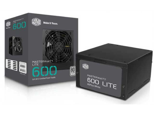 FUENTE COOLERMASTER MWL 600W 80 PLUS WHITE
